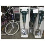 LOT WITH STAINLESS STEEL SHOVELS & FORKS