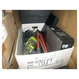 BOX WITH A DELL COMPUTER, LAPTOP, RYOBI POWER