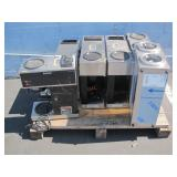 PALLET WITH 6 BUNN COMMERCIAL COFFEE MAKERS
