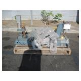 PALLET WITH 2 JT&M PNEUMATIC PRESSES & CLAMP
