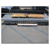 LOT WITH PALLET RACK UPRIGHTS