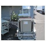 LOT WITH 2 AUTOMATED GURNEY BEDS & ASSORTED METAL