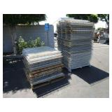 2 PALLETS WITH WIRE MESH PALLET RACKINS