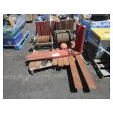 LOT WITH FORKLIFT FORKS & 2 WINCHES