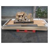 PALLET WITH  DRYWALL, WHITE BOARDS, & TONER