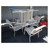 OUTDOOR SET WITH PATIO TABLE & CHAIRS