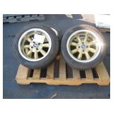 PALLET WITH 4 4 WHEELS & RIMS