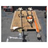 PALLET WITH STIHL TRIMMERS & WEED EATERS