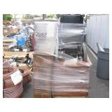 PALLET OF WOODEN CABINETS & ELECTRIC WHEELCHAIR