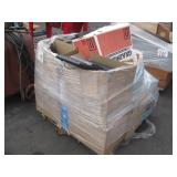 PALLET OF ADDING MACHINES & ASSORTED OFFICE