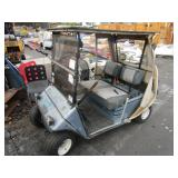 E-ZGO GOLF CART, NO BATTERIES NO STEERING WHEEL