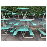 LOT WITH 3 FIBER GLASS PICNIC TABLES