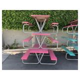 LOT OF 3 FIBER GLASS PICNIC TABLES