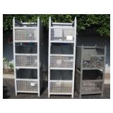 3 STORAGE RACK WITH MISCELLANEOUS NUTS & BOLTS