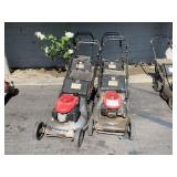 LOT WITH 4 HONDA COMMERCIAL LAWN MOWERS
