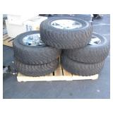 5 JEEP RIMS WITH BF GOODRICH TIRES