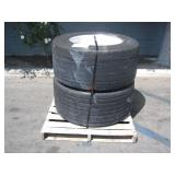 PALLET OF 2 MICHELIN SUPER SINGLE TRUCK TIRES