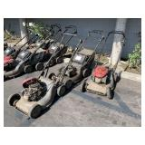 LOT WITH 3 HONDA COMMERCIAL LAWN MOWERS