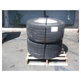 PALLET OF 2 BRIDGESTONE SUPER SINGLE TRUCK TIRES