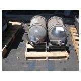 PALLET WITH 2 CNG TANKS