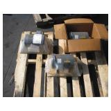 PALLET WITH 3 BALDOR ELECTRIC MOTORS