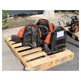 PALLET WITH 3 ECHO BACKPACK BLOWERS