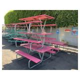 LOT WITH 4 FIBER GLASS PICNIC TABLES