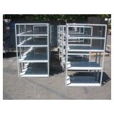 ROW OF METAL SHELVES
