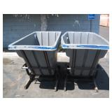 2 PLASTIC TRASH HOPPERS