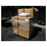 PALLET WITH BOXES OF PREGNANCY PILLOWS: