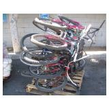 PALLET OF ASSORTED BIKES: