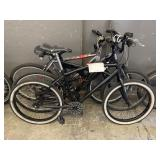 LOT OF 2 BLACK & 1 GRAY BICYCLES: