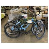 3 BEACH CRUISER BIKES: BLACK/LIGHT BLUE/GREEN