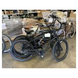 3 BLACK BEACH CRUISER BIKES: