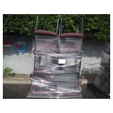 2 PALLETS OF RED PADDED BANQUET CHAIRS
