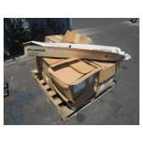 PALLET WITH SEAT BACKING & SYLVANIA FLUORESCENT