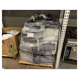 PALLET WITH ASSORTED PRINTERS & MONITORS