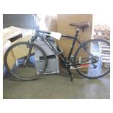 BLACK CARBON FIBER TREK ROAD BIKE