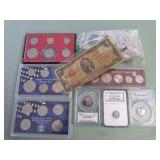 1 BAG W/COLLECTABLE COINS