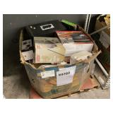PALLET WITH HONEYWELL HEATER, COLEMAN AIRBED,
