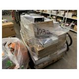 PALLET WITH USED HP PRINTER MAINTENANCE KIT &