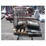 AIR TANK, AIR HOSES, McCROMETER, WHEELED CART