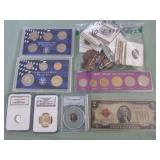 1 LOT W/COLLECTABLE COINS