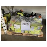 "PALLET WITH RYOBI 2 CYCLE 18"" GAS STRAIGHT SHAFT"