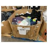 PALLET WITH ASSORTED CLOTHES & TOYS