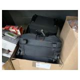 LOT WITH SAMSONITE QUANTUM WHEELED TOPLOADER