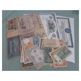 1 LOT W/CURRENCY,CERTIFICATES: