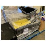 PALLET WITH ASSORTED TOTES, UTILITY BASE/WALL