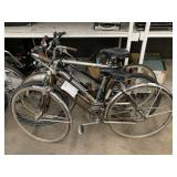 3 BICYCLES: BROWN ROAD BIKE, SILVER DIAMONDBACK, B