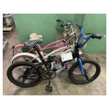LOT WITH 3  BIKES: BLACK MONGOOSE BMX, WHITE JETTA